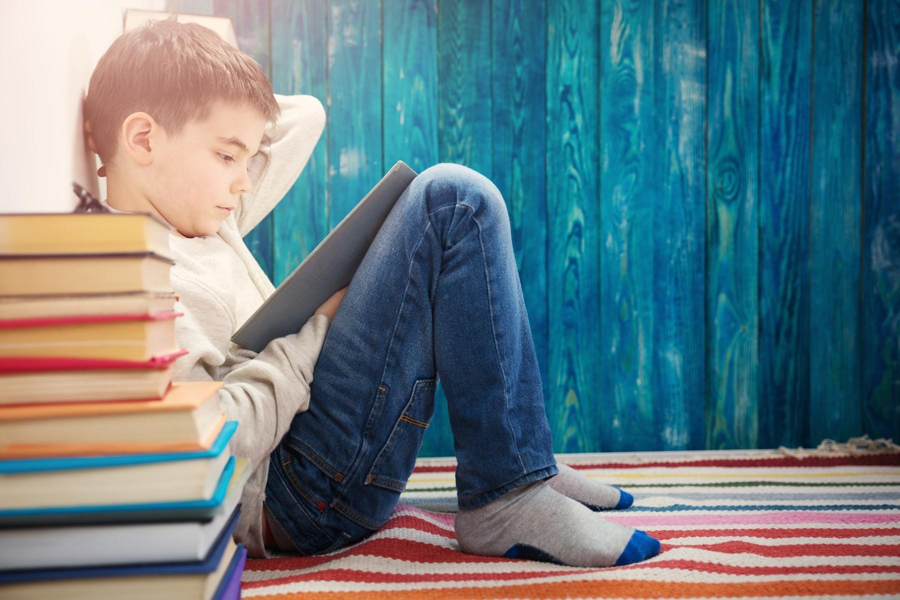 P6 child reading